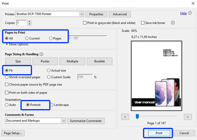 print samsung galaxy s21 user manual